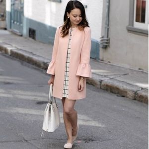 ZARA Woman Blush Pink Bell Sleeve Coat